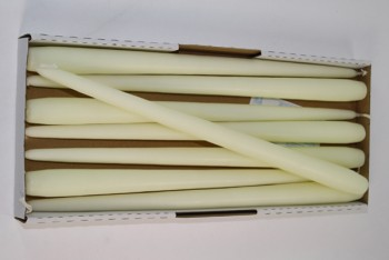 Taper Candle Ivory 400/25mm 8 Pack