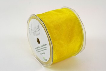 70mm Wired Organza Yellow