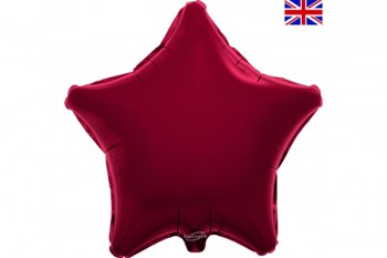 Star Balloon Burgundy 18""
