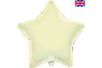 Star Balloon Ivory 18""
