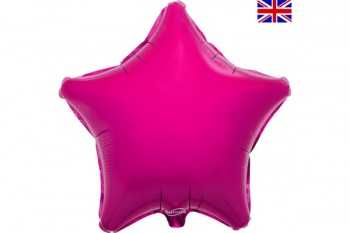 Star Balloon Fuchsia 18""