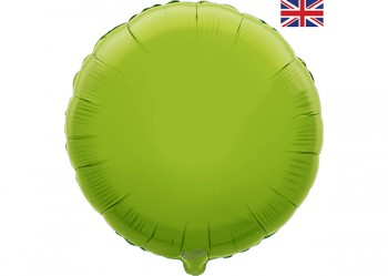 Round Balloon Lime Green 18""
