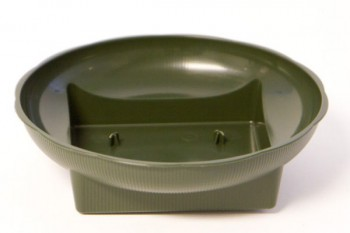 Square Round Bowl Large Green 10 Pack