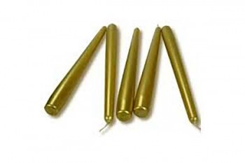 gold taper candles for candelabra, weddings, and events
