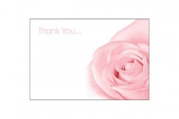 Thank you florist flower card from GT Sundries