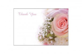 Thank you card for flower arrangements and bouquets from GT Sundries