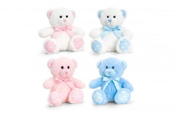spotty bear soft toy for new born baby gifts