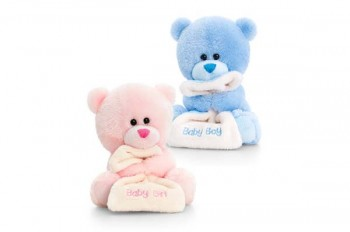 bear with blanket in pink or blue, newborn gift from GT Sundries