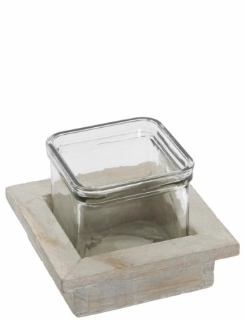 Buy Wood Square with glass from GT Sundries