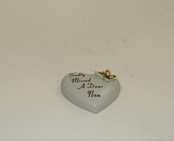 Sadly Missed A Dear Nan small memorial heart