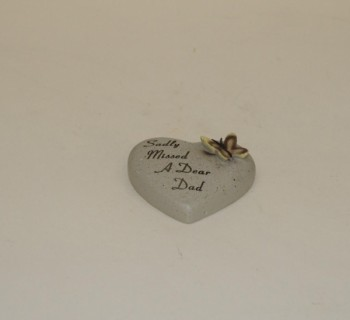 Sadly Missed A Dear Dad small memorial heart