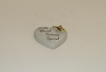 Sadly Missed Someone Special small memorial heart