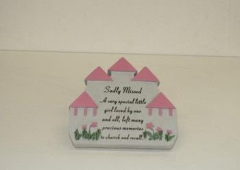 Sadly Missed A very special little girl pink castle