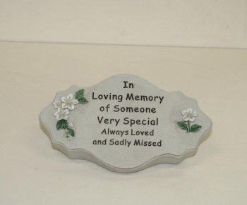 In Loving Memory of Someone Very Special oval plaque