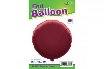 "balloon round burgundy 18"" for floristry, parties, events"