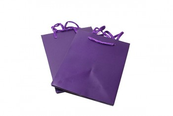 Hand Tied Bag x 10 Pieces Purple Size 190 x 185 x 250 mm