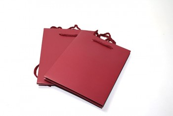 Hand Tie Bags x 10 Pieces Dark Red Size 190x185x250mm