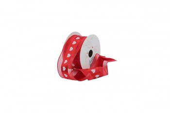 red ribbon for valentines day bouquets, love, hat box decoration from GT Sundries for all florist supplies