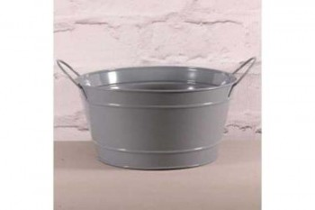grey zinc bowl for planting and florists arrangements