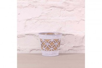 zinc pot lilac with hessian for floral arrangements and planting