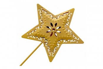 star wand in gold for weddings and proms from GT Sundries