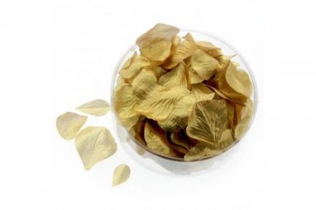 gold rose petals for a touch of class for wedding tables, arrangements, parties and events