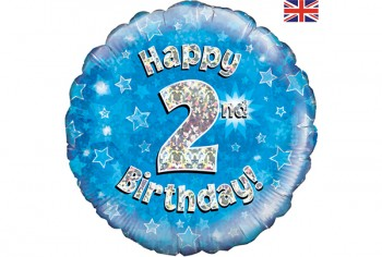 2nd Birthday Balloon Blue