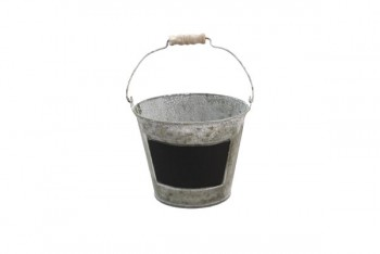 Zinc Bucket With Blackboard 16cm