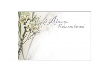 Always Remembered White Flower Card
