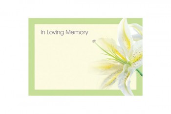 In Loving Memory Lily in a Box Card