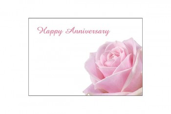 Happy Anniversary Pale Pink Roses Card