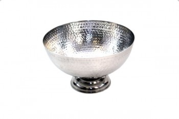 Hammered Bowl 31cm Silver