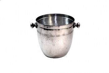Large Hammered Champagne Bucket 23 x 24cm Silver