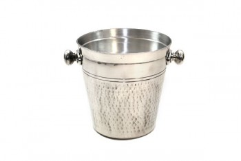 Small Hammered Champagne Bucket 21 x 20 Silver