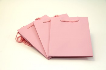 Hand Tied Bag x 10 Pieces Pink Size 190 x 185 x 250 mm