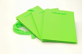 Hand Tied Bag x 10 Pieces Lime Green Size 190 x 185 x 250 mm