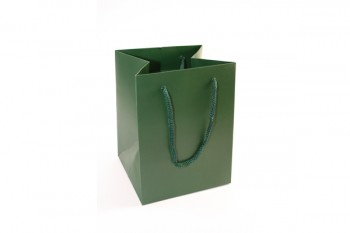 Hand Tie Bags x 10 Pieces Dark Green Size 190x185x250mm