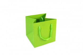 Hand Tie Bags x 10 Pieces Lime Green Size 170x170x170mm