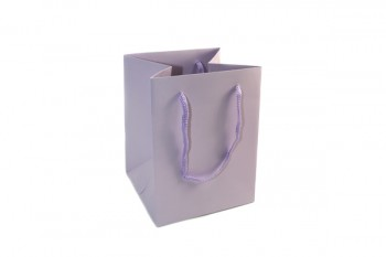 Hand Tie Bags x 10 Pieces Lilac Size 190x185x250mm
