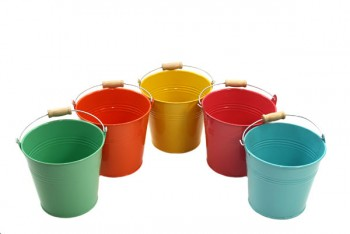 Coloured Bucket 13cm Set of 5