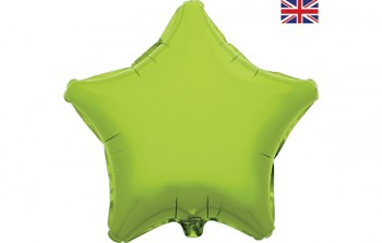 Star Balloon Lime Green 18""