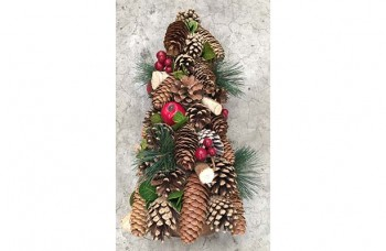 Christmas cone trees and wreaths from GT Sundries
