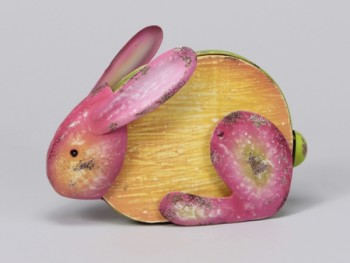 Orange Rabbit 20x15cm