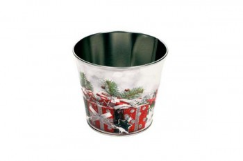 Christmas zinc planter for florists arrangements from GT Sundries