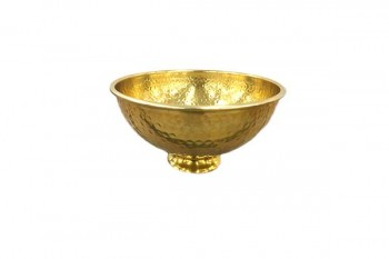 hammered brass effect bowl for wedding arrangements,table centerpieces and events from GT Sundries for florist supplies