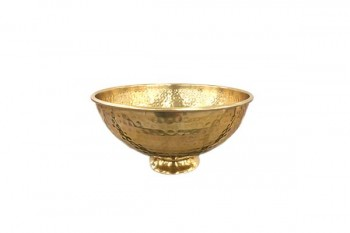 hammered bowl for weddings and events from GT Sundries florist supplies at wholesale prices