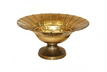 Brass bowl with line design for Wedding tables from GT Sundries