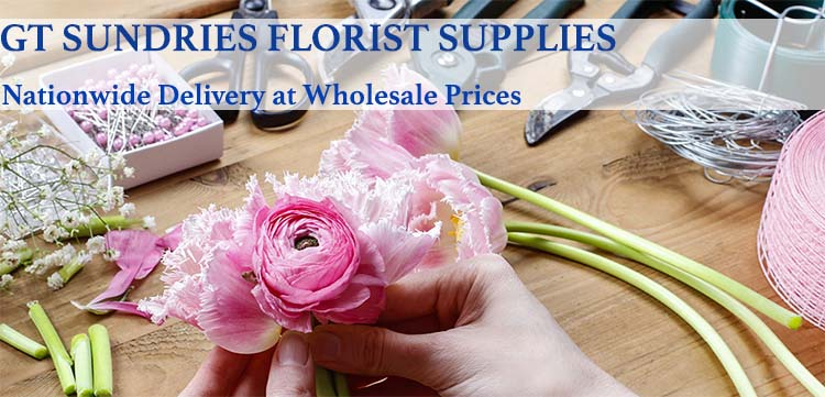 Florist preparing a bouquet - Florist Supplies from GT Sundries